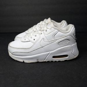 Nike Air Max 90 Triple White Sneakers Sz 10C